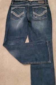Men's Buckle Black Jean